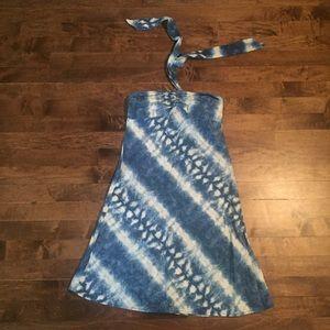 Ralph Lauren linen tie dye halter dress